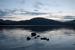 Dusk on Loch Lomond Royalty Free Stock Photography
