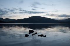 Dusk on Loch Lomond. Dusk from the bonny banks of Loch Lomond Royalty Free Stock Photography