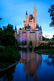 Dusk at the Magic Kingdom, Orlando Florida Royalty Free Stock Photography