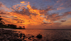 Dusk in Maldives Royalty Free Stock Images