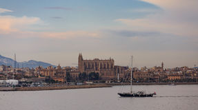 Dusk on Mallorca Shore. Churches and Dusk on Mallorca Shore Royalty Free Stock Photos