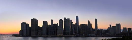 Dusk Manhattan panorama Stock Photo