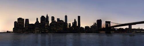 Dusk Manhattan panorama Royalty Free Stock Photo