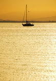 Dusk on the Mar Menor, Spain Royalty Free Stock Photography