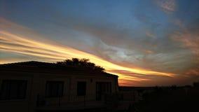 Dusk. A mesmerising sunset overlooking a South African neighborhood Stock Photography