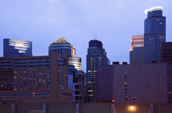 Dusk in Minneapolis Stock Photography