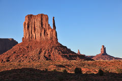 Dusk in Monument Valley Stock Photo