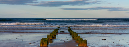 Dusk on a Northumberland Beach Stock Photography