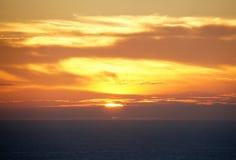 Dusk over Atlantic ocean near Cabo da Roca in Portugal Royalty Free Stock Images