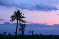 Dusk over the Atlas Mountains, Morocco. Royalty Free Stock Images