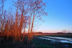 Dusk over the countryside Royalty Free Stock Image