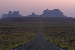 Dusk over Monument Valley Arizona Stock Photo