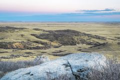 Dusk over prairie in northern Colorado Royalty Free Stock Photography