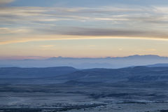 Dusk over Rocky Mountains Stock Photos