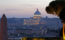 Dusk over Saint Peters, Rome, Italy Royalty Free Stock Photos