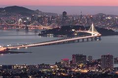 Dusk over San Francisco, as seen from Berkeley Hills Royalty Free Stock Photos
