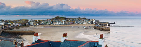 Dusk overlooking St Ives Cornwall Royalty Free Stock Images