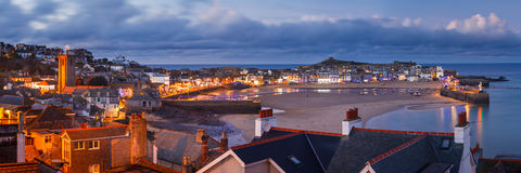Dusk overlooking St Ives Cornwall Stock Photo