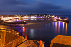 Dusk overlooking St Ives Cornwall Stock Images
