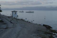 Dusk in Padre Burgos, Leyte, Philippines Stock Image