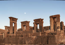 Dusk of Persepolis ruins,Shiraz Iran royalty free stock photography