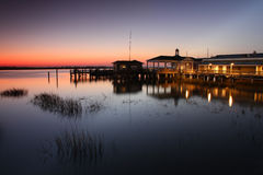 Dusk Pier Royalty Free Stock Photography