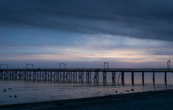 Dusk at the Pier Royalty Free Stock Photos