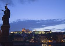 Dusk in Prague Royalty Free Stock Photos