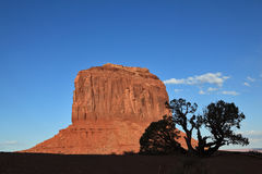Dusk in red sandstone monoliths Stock Photography