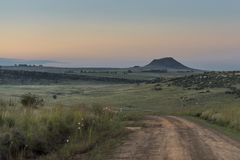 Dusk in the Eastern Free State Stock Image