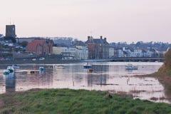 Dusk on the River Torridge in Devon UK Stock Photo