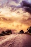 Dusk road Stock Photography