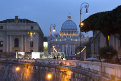 Dusk in Rome Royalty Free Stock Image