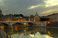 Dusk in Rome Royalty Free Stock Photos