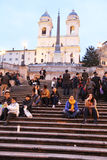 Dusk in rome stock photo
