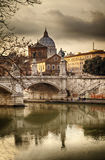 Dusk in Rome Italy Royalty Free Stock Photography