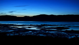 Dusk in the Saguenay Fjord Stock Photo