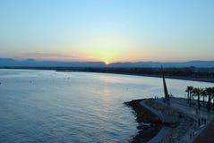 dusk salou Ισπανία Στοκ φωτογραφία με δικαίωμα ελεύθερης χρήσης