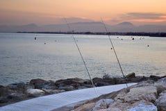 dusk salou Ισπανία Στοκ εικόνα με δικαίωμα ελεύθερης χρήσης