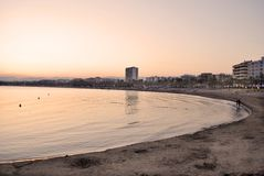 Dusk in Salou, Spain Stock Photography