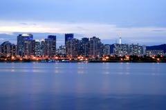 dusk seoul skyline στοκ εικόνες με δικαίωμα ελεύθερης χρήσης