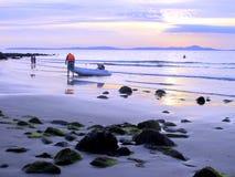 Dusk on Shell Island, Wales. Stock Image
