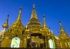 Dusk at Shwedagon pagoda, Yangon, Myanmar Royalty Free Stock Image