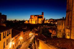 Dusk in Siena, Italy Stock Images