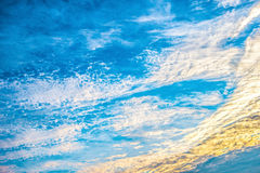 At dusk, the sky appeared Royalty Free Stock Images