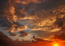 Dusk sky, Cloudscape. A Dusk sky, Cloudscape abstract Royalty Free Stock Photography