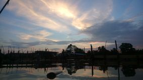 Dusk Sky. When flood royalty free stock images