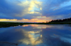 Dusk sky in the Uinta mountains. Royalty Free Stock Photography