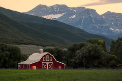 Free Dusk Sky With Red Barn. Royalty Free Stock Images - 73012319