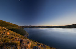 Dusk at Solider Creek Reservoir. This photo was taken at Solider Creek Reservoir in Utah Stock Photos